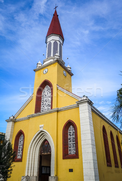 şehir katedral tahiti ada bayan fransız Stok fotoğraf © daboost