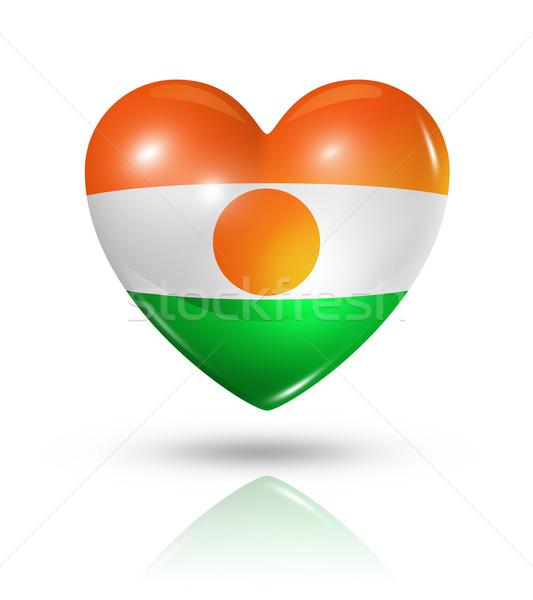 любви Нигер сердце флаг икона символ Сток-фото © daboost