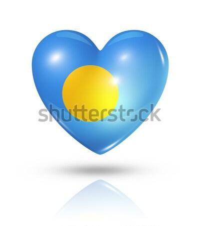 愛 パラオ 中心 フラグ アイコン シンボル ストックフォト © daboost