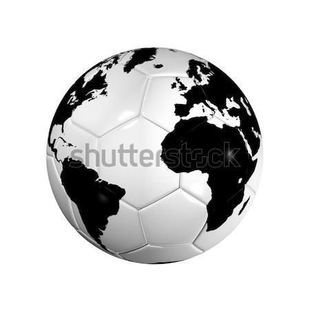 Voetbal voetbal bal wereld wereldbol 3D Stockfoto © daboost