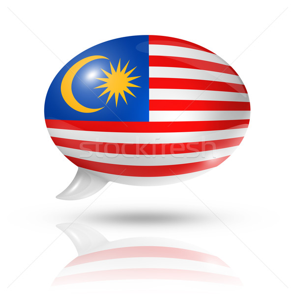 Malaysian flag speech bubble Stock photo © daboost
