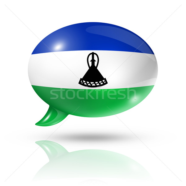 Lesotho flag speech bubble Stock photo © daboost