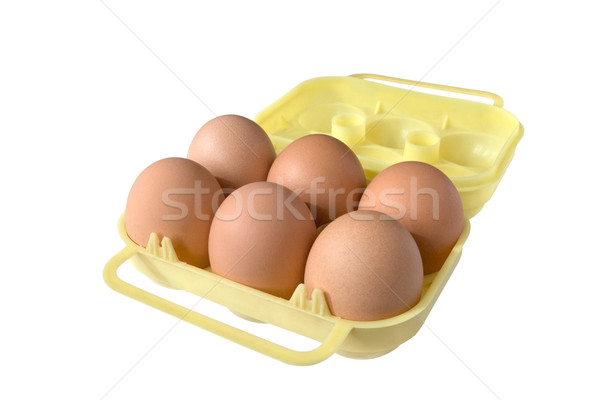 Yellow eggbox Stock photo © daboost