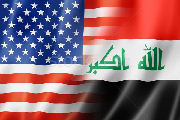 EUA Iraque bandeira misto tridimensional tornar Foto stock © daboost