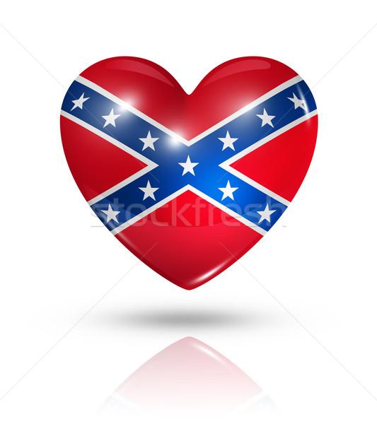Love confederate, heart flag icon Stock photo © daboost