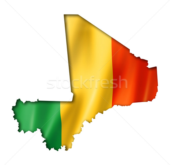 Mali flag map Stock photo © daboost