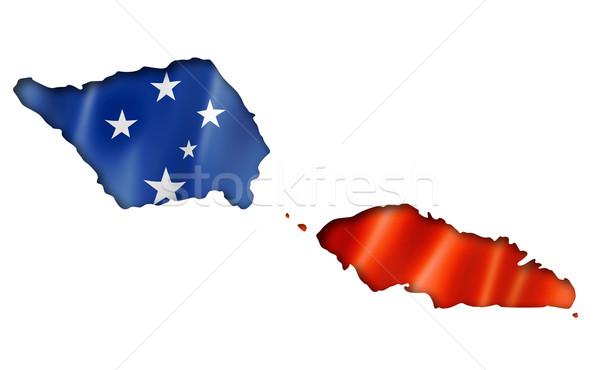 Samoa vlag kaart geven geïsoleerd Stockfoto © daboost