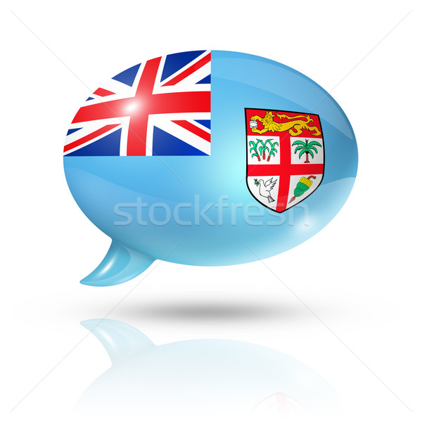 Fijian flag speech bubble Stock photo © daboost