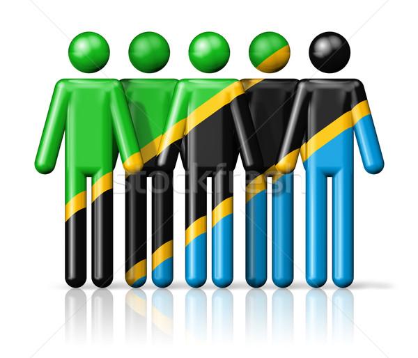 Bandeira Tanzânia social comunidade símbolo Foto stock © daboost