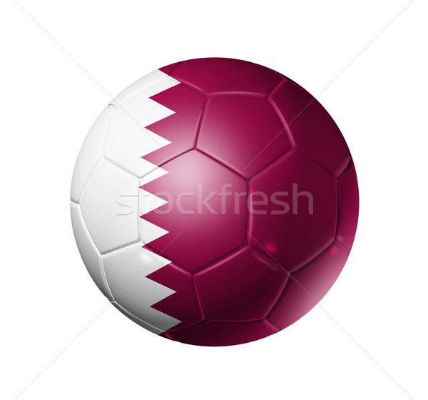 Futebol futebol bola Catar bandeira 3D Foto stock © daboost