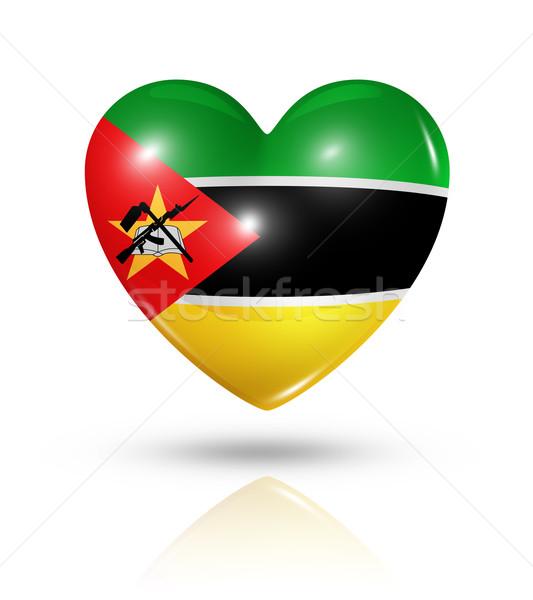 Love Mozambique, heart flag icon Stock photo © daboost