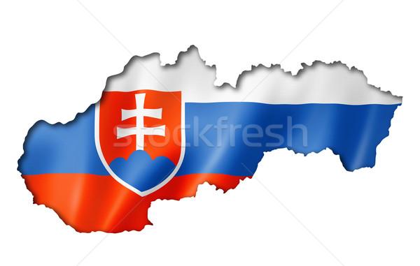 Slovakian flag map Stock photo © daboost