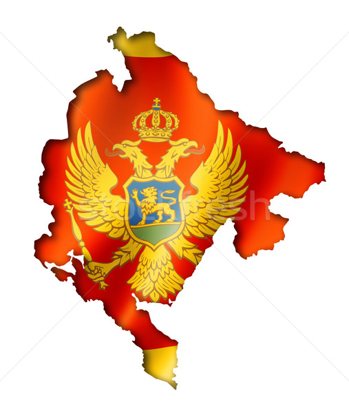 Montenegro flag map Stock photo © daboost