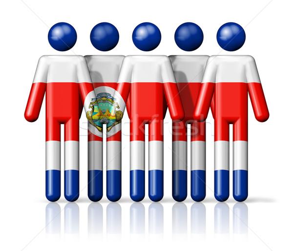 Bandera Costa Rica social comunidad símbolo Foto stock © daboost