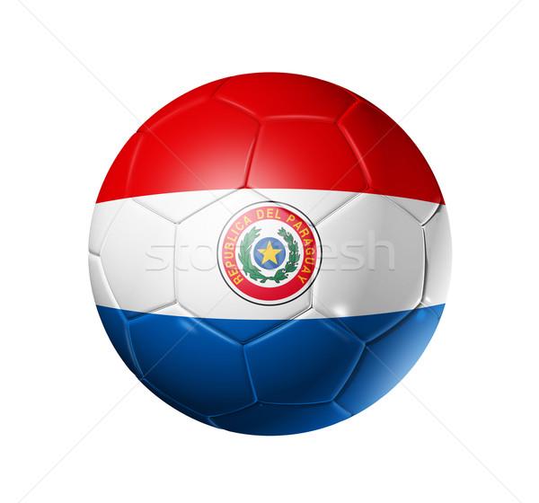 Voetbal voetbal bal Paraguay vlag 3D Stockfoto © daboost
