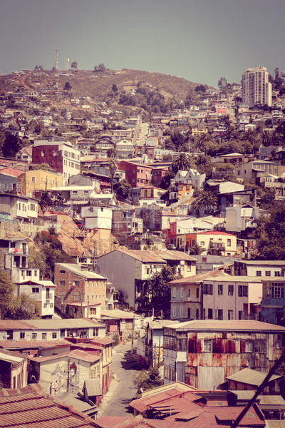 Foto stock: Cityscape · colorido · velho · casas · cidade · casa