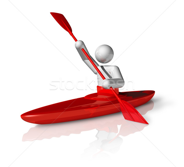 Stock photo: Canoe Slalom 3D symbol