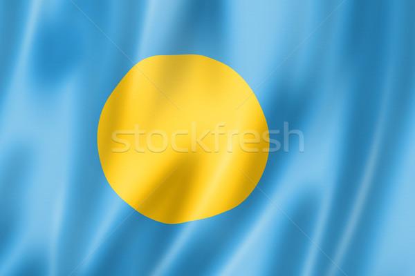 パラオ フラグ レンダー サテン テクスチャ ストックフォト © daboost