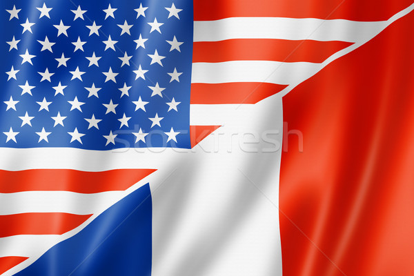 USA France pavillon mixte Photo stock © daboost
