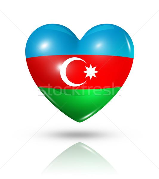 Amor Azerbaijão coração bandeira ícone símbolo Foto stock © daboost
