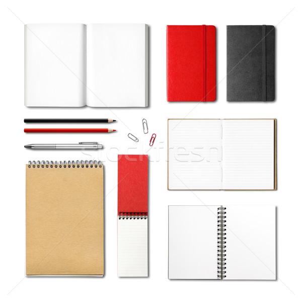 Papelería libros cuadernos plantilla aislado Foto stock © daboost