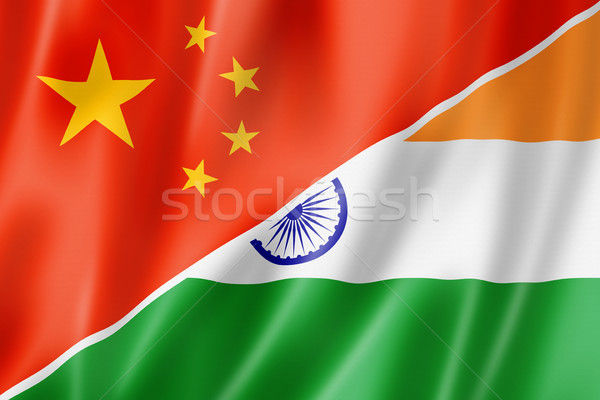 China India bandera mixto tridimensional hacer Foto stock © daboost