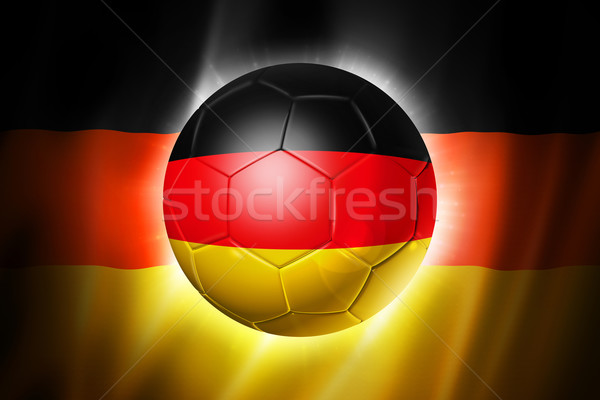 Soccer football ball with Germany flag Stock photo © daboost