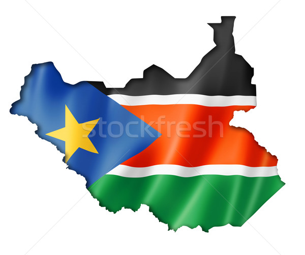 South Sudan flag map Stock photo © daboost