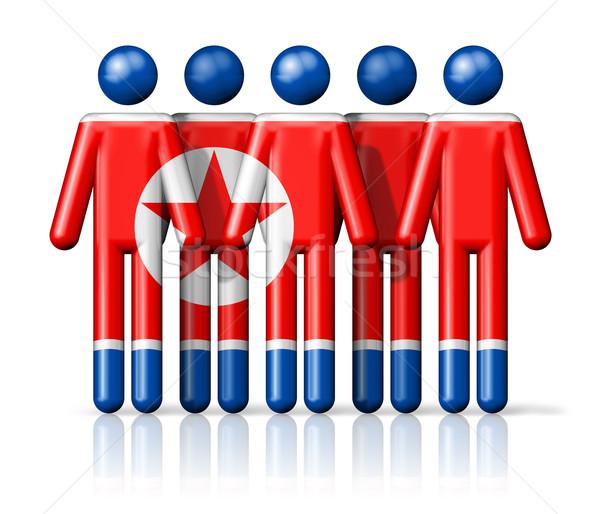 Zászló észak pálcikaember társasági közösség szimbólum Stock fotó © daboost