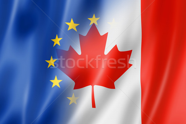 Europa Canadá bandeira misto tridimensional tornar Foto stock © daboost
