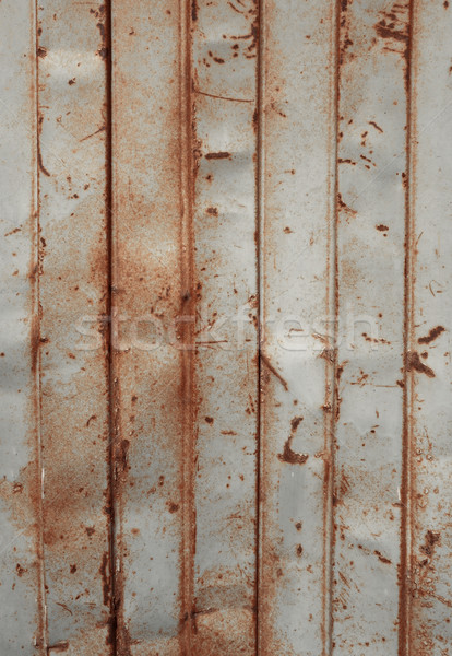 old rusty sheet metal wall Stock photo © daboost