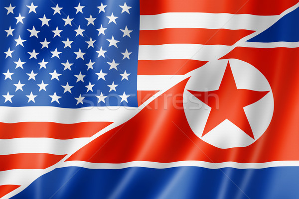 USA and North Korea flag Stock photo © daboost