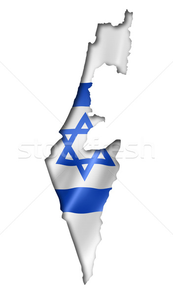 Israeli flag map Stock photo © daboost