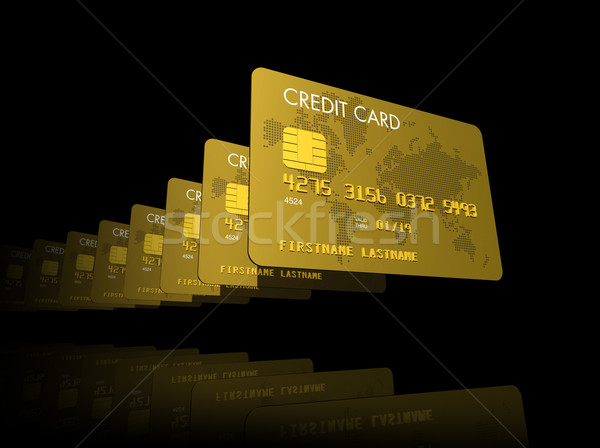Gold credit cards Stock photo © daboost