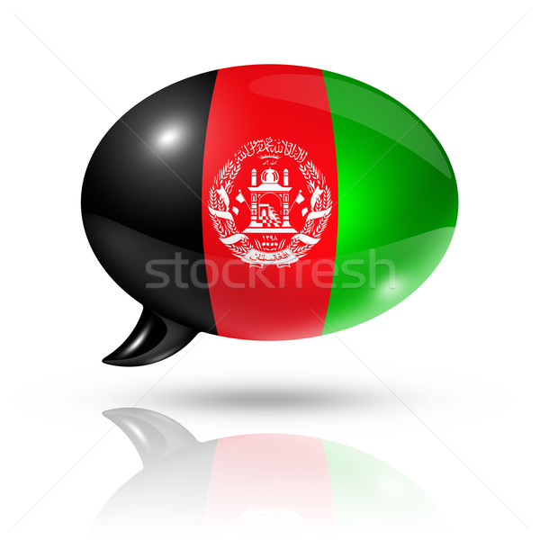 Afghan flag speech bubble Stock photo © daboost