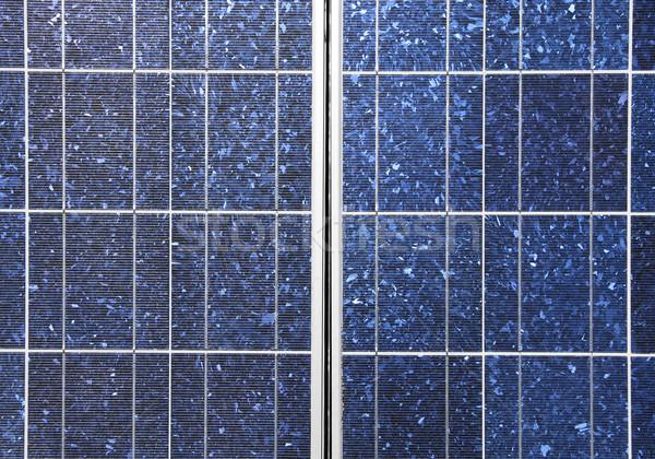 Zonnepaneel detail ecologisch station zon Stockfoto © daboost