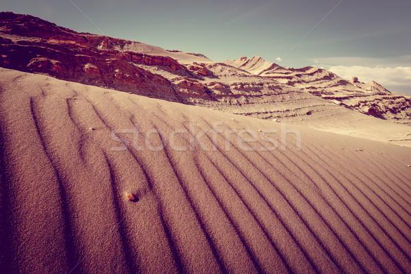 Homok LA Chile tájkép felhők sivatag Stock fotó © daboost