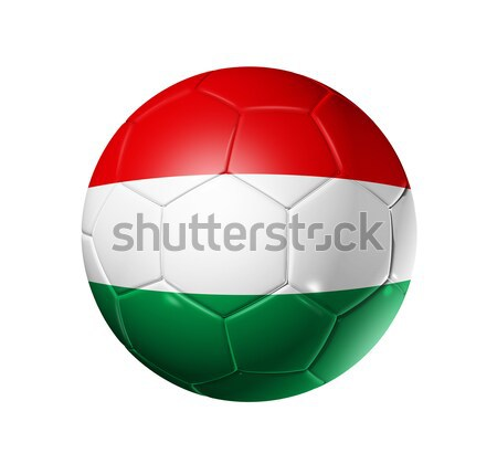 Soccer football ball with Hungary flag Stock photo © daboost