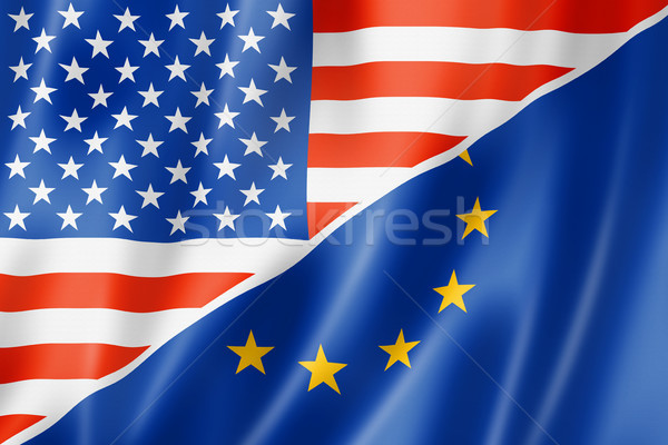 США Европа флаг смешанный оказывать Сток-фото © daboost
