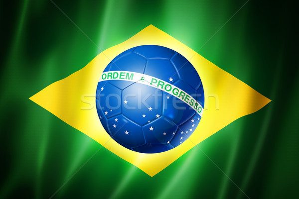 Brazil soccer world cup 2014 flag Stock photo © daboost