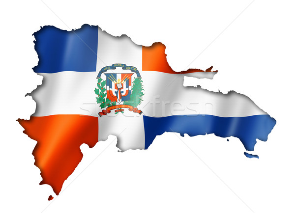 Dominican Republic flag map Stock photo © daboost