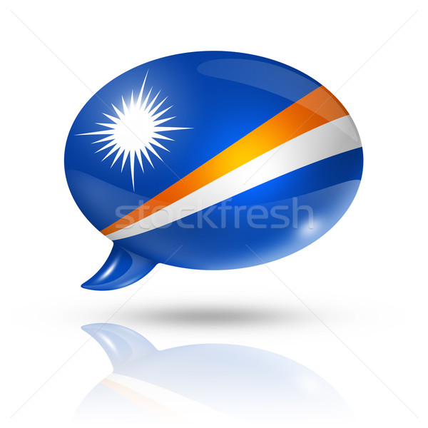Marshall Islands flag speech bubble Stock photo © daboost