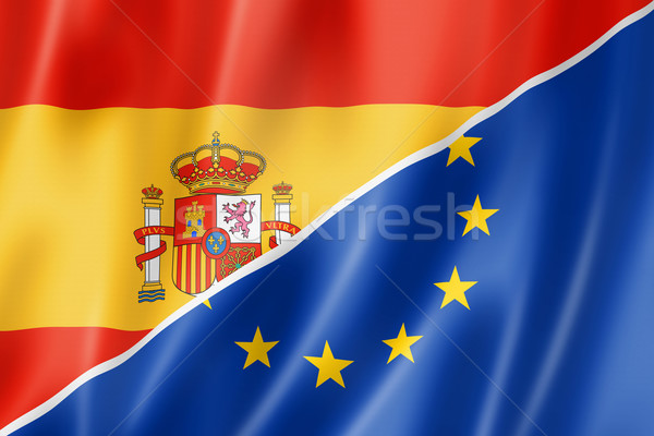 Spain and Europe flag Stock photo © daboost