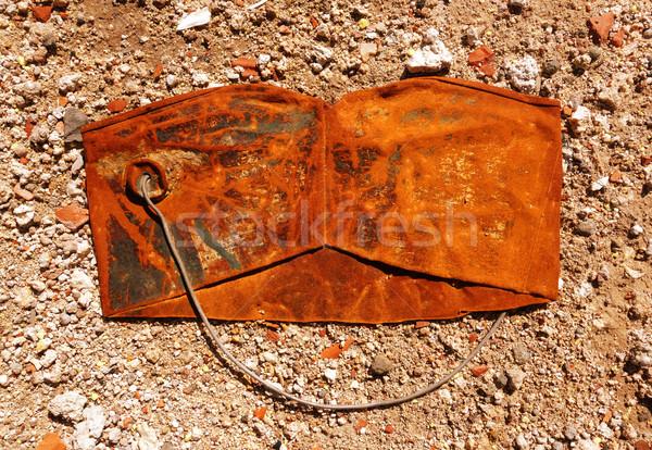 Old crushed rusty bucket Stock photo © daboost