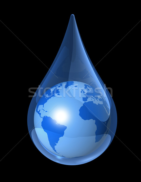 earth water drop Stock photo © daboost