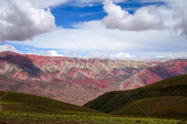 Színes hegyek Argentína széles természet sivatag Stock fotó © daboost