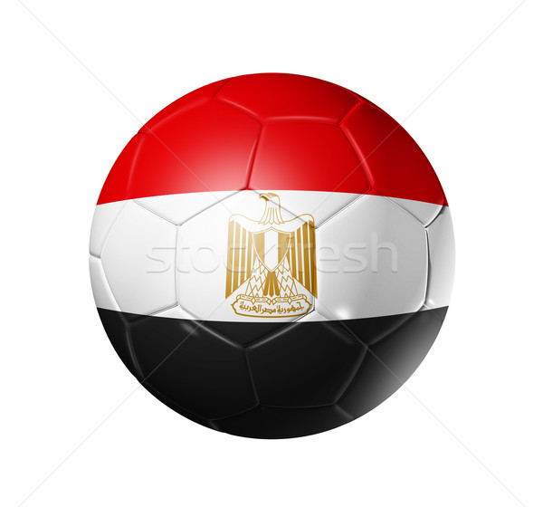 Soccer football ball with Egypt flag Stock photo © daboost
