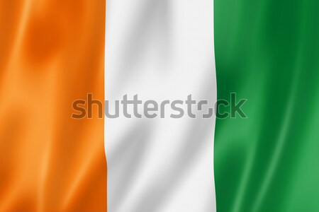 İrlandalı bayrak İrlanda üç boyutlu vermek saten Stok fotoğraf © daboost