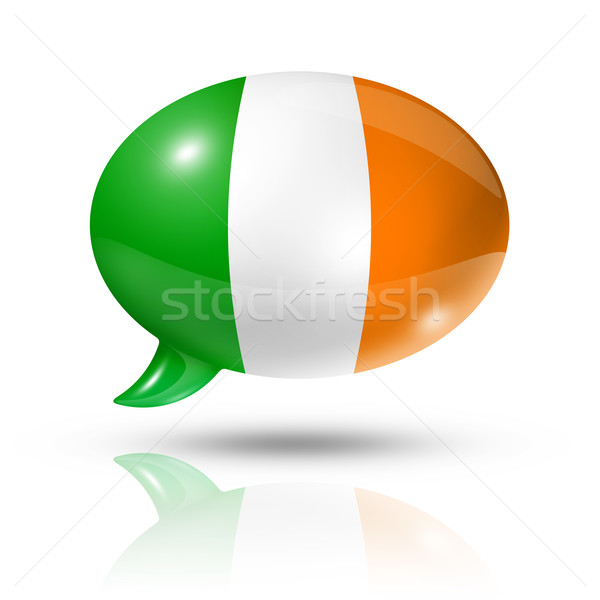 Irish flag speech bubble Stock photo © daboost