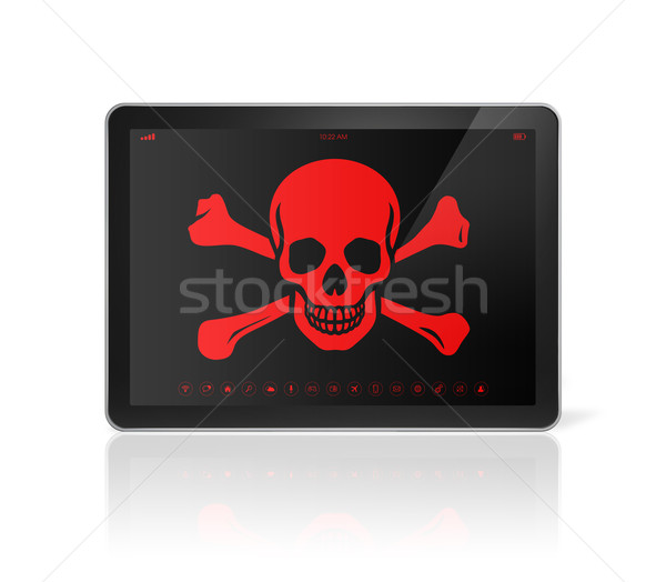 Pirata símbolo Screen piratería 3D Foto stock © daboost